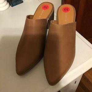Madden girl tan mules